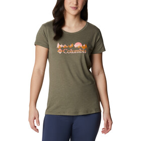 Columbia Daisy Days SS Graphic Tee Women, stone green heather